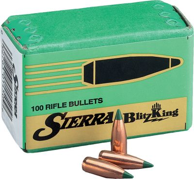 Hunting Sierra's strict adherence to quality standards, including a requirement for three times more dimensional and structural quality control for extreme uniformity, results in reliably consistent performance, shot after shot. Sierra Bullets are made in a wide variety of weights to suit your every need. BlitzKing Bullets have polymer tips and a jacket design that promotes rapid, explosive expansion at any range. Per 500. Type: Rifle Bullets. - $25.99