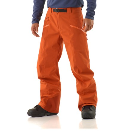 Snowboard The Arc'teryx Sabre pants are built with downhill-specific shaping and technical features that riders and skiers appreciate. The fabric excels for the stop-and-go rhythm of resort skiing and riding. - $179.83