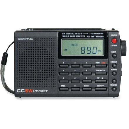 Camp and Hike The C Crane CC SW pocket radio offers exceptional reception and audio quality for its compact size and is sensitive enough to outperform many other radios in its class. - $49.95