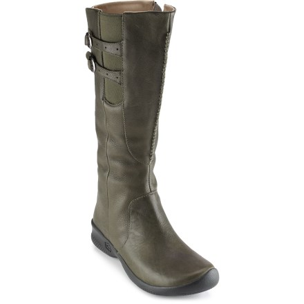 These tall Keen Bern Baby Bern boots have wonderfully clean lines and rich leather for refined appeal without compromising everyday fit and comfort. - $86.83