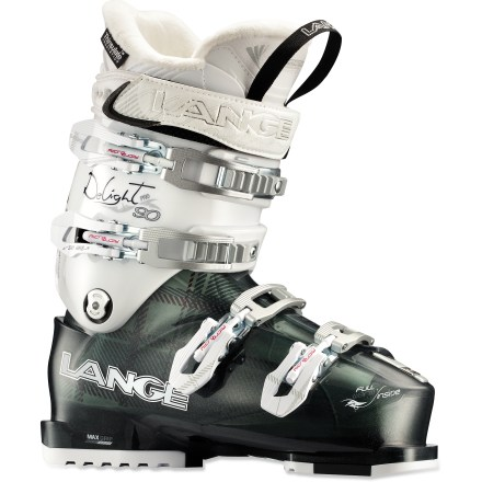Ski From bounding through powder stashes to speeding down frontside groomers, the Lange Exclusive Delight Pro ski boots provide a women-specific fit and precise comfort. - $179.83