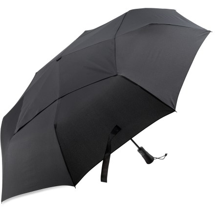 Entertainment With an automatic open feature the REI Jumbo 54 umbrella is ready to take on wet and windy weather with the simple push of a buttton. Push it again, and the umbrella is ready to fold away. - $37.50