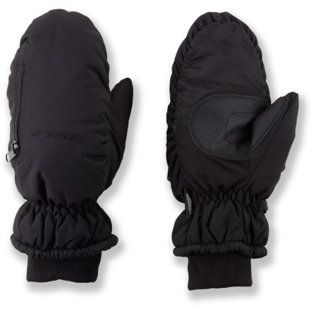 With the Seirus Heat Pocket(TM) mittens your hands will be toasty warm when the temperature plummets. 200g Thermolite Micro(R) polyester insulation keeps your fingers from getting cold on winter days. You can place hand warmer packets (sold separately) in the zippered pockets for extra warmth. Go play in the snow and rest assured that your hands will stay dry thanks to the waterproof, breathable inserts. Built-in venting lets you control your comfort level-open the vents up when your hands get too warm, then close them when you start to cool off. Grippy polyurethane palms keep things from sliding through your hands. The Seirus Heat Pocket(TM) mittens have a precurved construction that offers a good fit. - $20.93